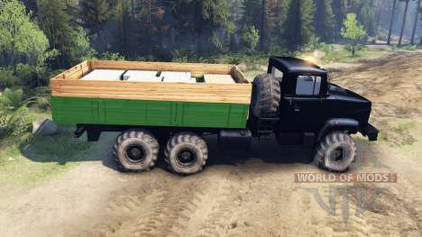 КрАЗ-6322 Тюнинг для Spin Tires