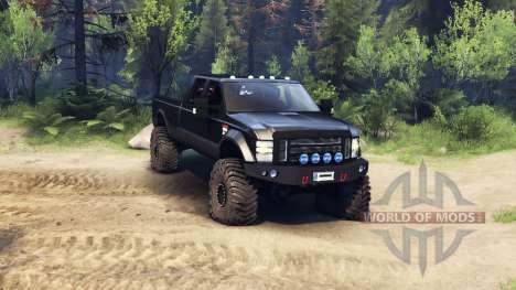 Ford F-350 Super Duty 6.8 2008 v0.1.0 black для Spin Tires