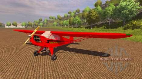 Самолёт Piper J-3 Cub для Farming Simulator 2013