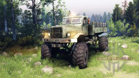 КрАЗ-255 4x4 для Spin Tires