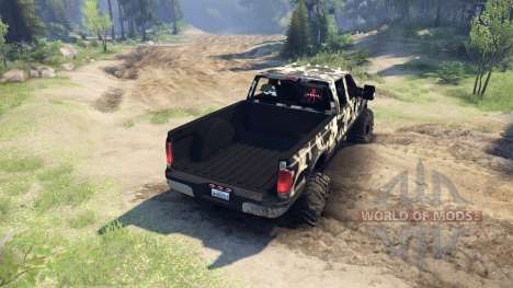 Ford F-350 Super Duty 6.8 2008 v0.1.0 camo2 для Spin Tires