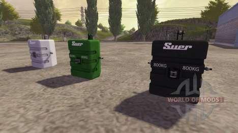 Противовес 800 кг для Farming Simulator 2013