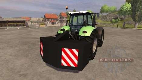 Задний противовес для Farming Simulator 2013