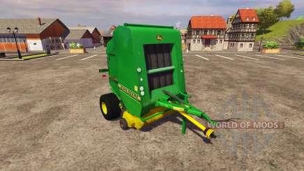 Тюковщик John Deere 590 v2.0 для Farming Simulator 2013
