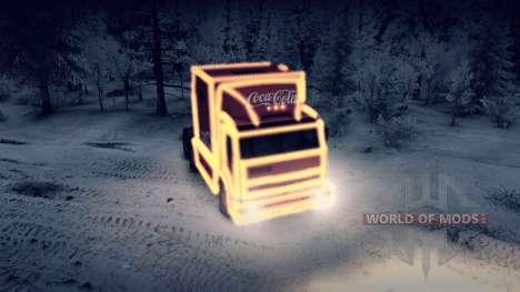 КамАЗ 54112 РИАТ Новогодний с гирляндами для Spin Tires