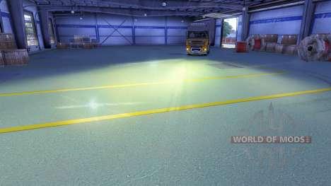 Жёлтый свет фар для Euro Truck Simulator 2