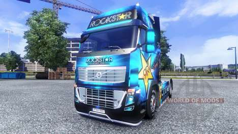 Окрас -Rockstar Energy Drink- на тягач Volvo для Euro Truck Simulator 2