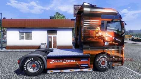 Окрас -Dream Express- на тягач MAN TGX для Euro Truck Simulator 2