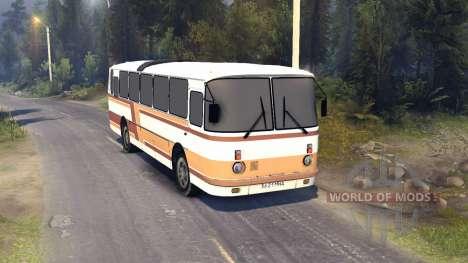 ЛАЗ-699Р orange-brown stripes для Spin Tires