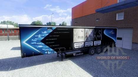 Скины -Winston & Coca Cola- на полуприцепы для Euro Truck Simulator 2