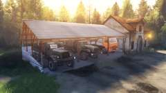 Навес и домик вместо гаража