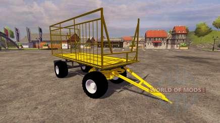 Жёлтый прицеп для Farming Simulator 2013