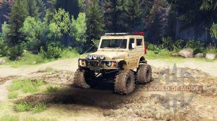 Suzuki Samurai LJ880 dirty desert tan для Spin Tires