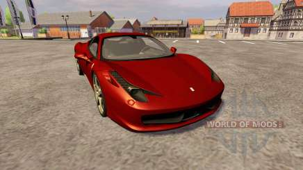 Ferrari 458 Italia для Farming Simulator 2013