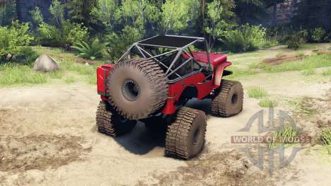 Jeep Willys red для Spin Tires