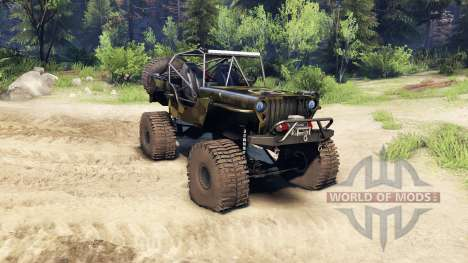 Jeep Willys camo для Spin Tires