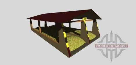 Силосная яма с навесом v2.0 для Farming Simulator 2013
