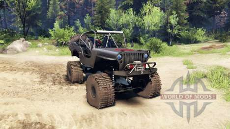 Jeep Willys black для Spin Tires