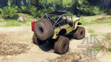 Jeep Willys tan для Spin Tires