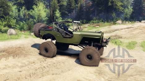 Jeep Willys green для Spin Tires