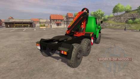 Урал-5557 кран-манипулятор green для Farming Simulator 2013
