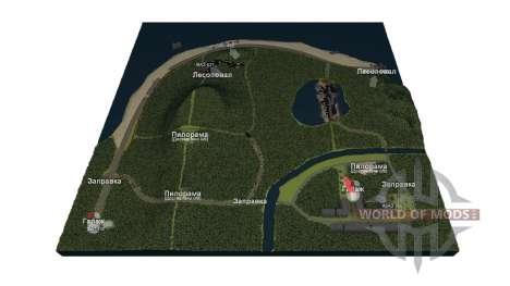 Карта Сахалин для Spin Tires