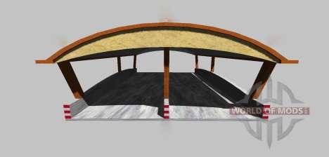 Силосная яма с навесом v3.0 для Farming Simulator 2013
