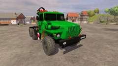 Урал-5557 кран-манипулятор green