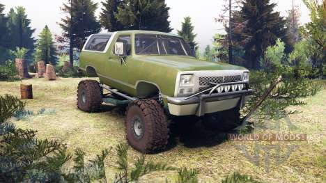 Dodge Ramcharger II 1991 green для Spin Tires