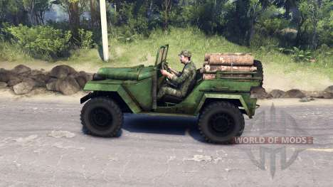 ГАЗ-67 Б для Spin Tires