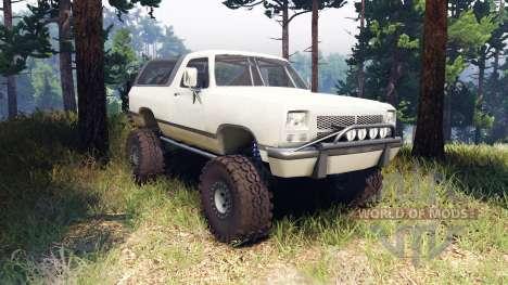 Dodge Ramcharger II 1991 beige для Spin Tires