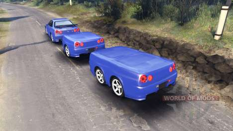 Nissan Skyline R34 GT-R NISMO Z-tune для Spin Tires