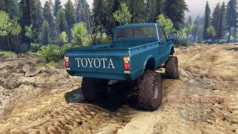 Toyota Hilux Truggy 1981 v1.1 blue для Spin Tires