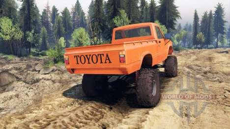 Toyota Hilux Truggy 1981 v1.1 orange для Spin Tires