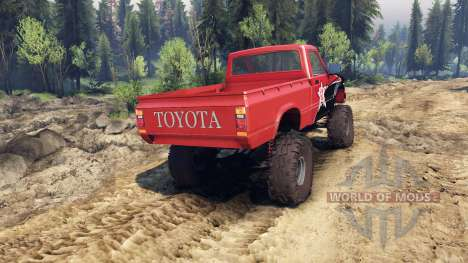 Toyota Hilux Truggy 1981 v1.1 rigid industries для Spin Tires