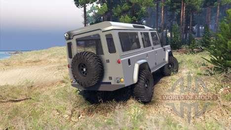 Land Rover Defender 110 silver для Spin Tires