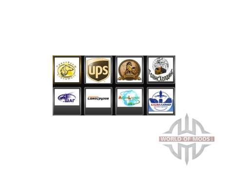 Логотипы компаний для водителя для Euro Truck Simulator 2