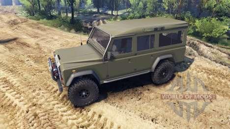Land Rover Defender 110 flat green для Spin Tires