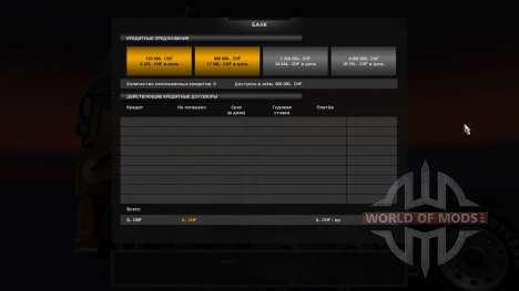 Банк для Euro Truck Simulator 2