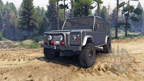 Land Rover Defender 110 dark blue gray для Spin Tires