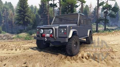 Land Rover Defender 110 dark blue gray для Spin Tires