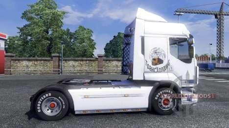 Скрин ТрансХолдинг на тягач Renault для Euro Truck Simulator 2