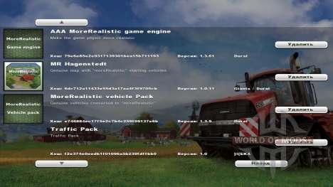 moreRealistic v1.3.61 для Farming Simulator 2013