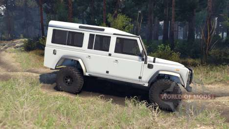 Land Rover Defender 110 white для Spin Tires