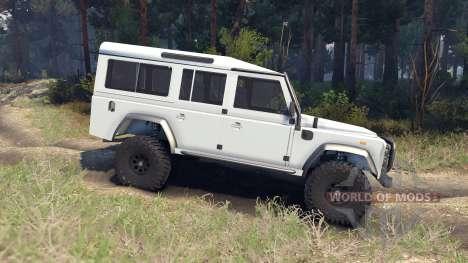 Land Rover Defender 110 white для Spin Tires