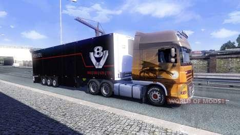 Окрас Schmitz Scania V8 для полуприцепа для Euro Truck Simulator 2