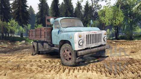 ГАЗ-53 голубой для Spin Tires