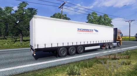 Окрас Schmitz для полуприцепа для Euro Truck Simulator 2