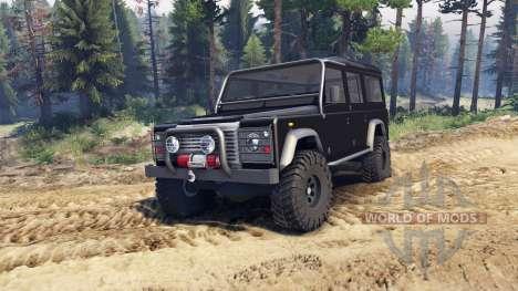 Land Rover Defender 110 black для Spin Tires