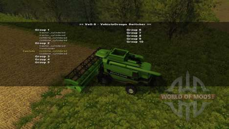 VehicleGroups Switcher v0.97 для Farming Simulator 2013